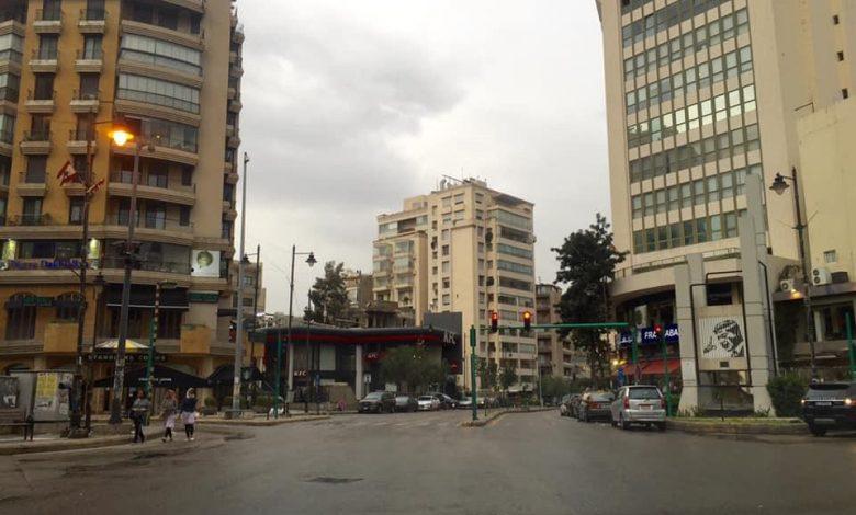 شوارع بيروت خالية في زمن الكورونا