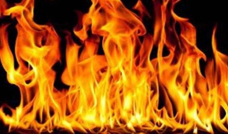 فيديو : حريق هائل في منطقة الجناح قرب المستشفى الحكومي جانب شركات الموصللي