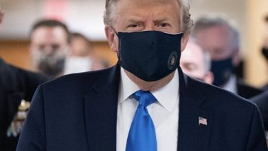 Photo of لأول مرة الرئيس ترامب بكمامة طبية
