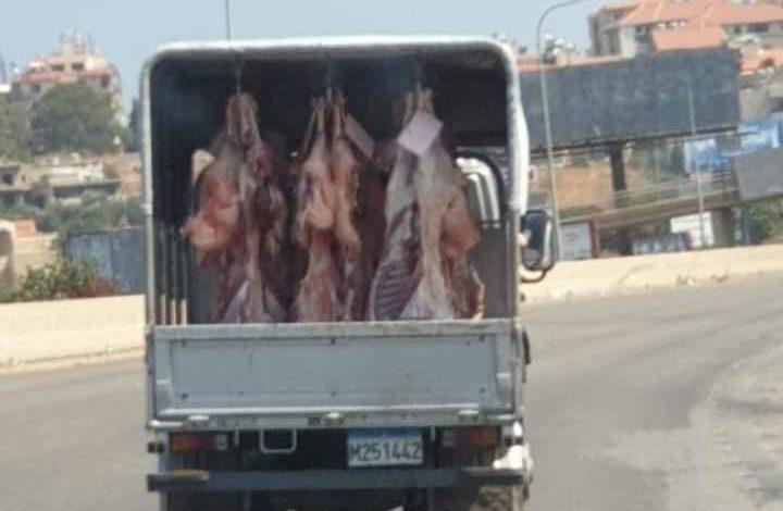 """بـ """"عز الشوب"""" شاحنة لحوم من الجنوب إلى بيروت"""