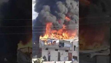 Photo of حريق ضخم  في العاقبية – صيدا  | فيديو