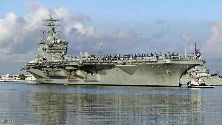 """حاملة الطائرات """"نيميتز"""" الأميركية تحركت إلى منطقة الخليج"""