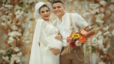 """Photo of بالفيديو: """"العروس الحامل"""" تشعل مواقع التواصل الاجتماعي"""