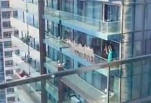Photo of فيديو لأكثر من 10 نساء عاريات على شرفة في دبي