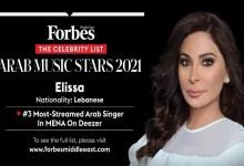 Photo of إليسا في المركز الثالث ضمن أكثر الفنانين العرب استماعًا ضمن قائمة فوربس