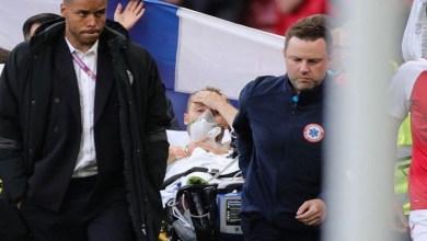 Photo of سقوط مخيف للاعب إريكسن خلال مباراة الدنمارك وفنلندا| فيديو