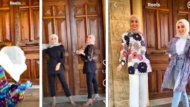 Photo of محجبات من الضاحية يعرضن أزياء أمام الكنيسة – بالصورة