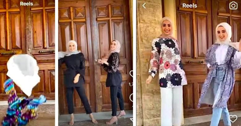 محجبات من الضاحية يعرضن أزياء أمام الكنيسة